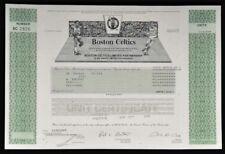 Boston Celtics Ltd. Partnership Certificate