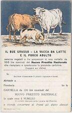 CARTOLINA d'Epoca - MILITARE  :  PRESTITO NAZIONALE frimata FRIGE