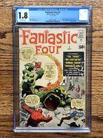 Fantastic Four #1 CGC 1.8 Marvel 1961 - BEST LOOKING ON EBAY