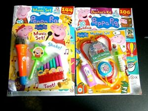2 Peppa Pig Magazines With Gifts Issue 324 & 334 (new)