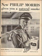 1957 Vintage ad for Philip Morris`Retro Fashion Tobacco Package