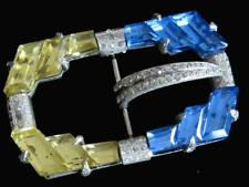 Estate Find....Vintage Art Deco 1920s Crystal Rhinestone Belt Buckle