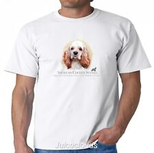 American Cocker Spaniel Face Puppy Picture Pet Rescue Dog Owner T-Shirt Gift Tee