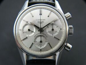 VTGE  VERY RARE HEUER CARRERA 2447S ABERCROMBIE & FITCH CHRONOGRAPH, SUPERB. 60s