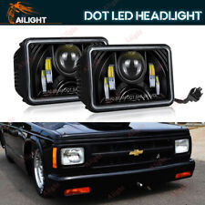 "4x6""inch LED DRL Headlight Fit Chevrolet S10/Monte Carlo/Nova/R10/ Monza/Nova 2X"