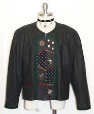 "BLACK WOOL German  JACKET Coat Women Hammerschmid Short Winter Jacket B46"" 16 L"