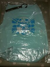 Dog Puppy Vest TShirt Top by Designers Ready To Wag, London, UK. Turquoise NWT