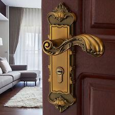 Yellow Bronze Continental Antique Mechanical Locks Interior Door Handle Lock Set