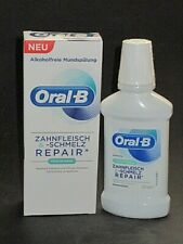 Oral-B Gums & Melting Repair Mouthwash Fresh Mint Alcohol Free 250ml New