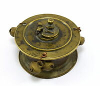 Nice collectible inkwell / ink pot solid brass Indian unique design. G67-49 US