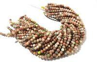 "1 Strand Natural Rhodonite Round Smooth 6-6.5mm Gemstone Loose Beads 13""Inch"
