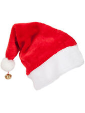 Adulto Deluxe Unisex Cappello di Babbo Natale con Campana di Natale Natale Costume Accessorio Nuovo