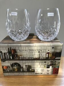 ROYAL DOULTON PAIR HIGHCLERE RUM GLASSES NEW IN BOX