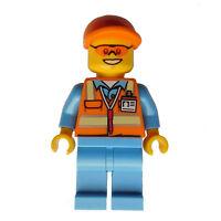 LEGO flughafenmitarbeiter BLEU MOYEN Gilet de sécurité Mini Figurine CITY cty677