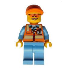 LEGO flughafenmitarbeiter BLU MEDIO GILET SICUREZZA mini figura City cty677
