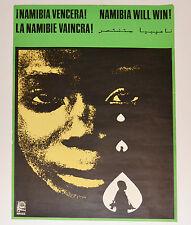 1977 Cuban Original Political Poster.Cold War propaganda.NAMIBIA.Africa art