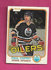 1981-82 OPC # 111 OILERS PAUL COFFEY  ROOKIE GOOD CARD (INV# D3921)
