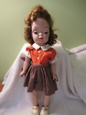 """New listing Vintage Mary Jane / Terri Lee Clone Walker Doll 16"""" With Tagged Dress"""