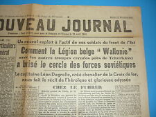 LEGION WALLONIE RARE JOURNAL SPECIAL TCHERKASSY FEVRIER 1944