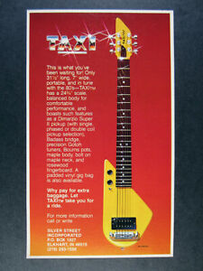 1981 Silver Street TAXI Electric Guitar vintage print Ad