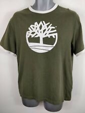 MENS TIMBERLAND OLIVE GREEN OD SHIRT TOP T SHIRT M MEDIUM