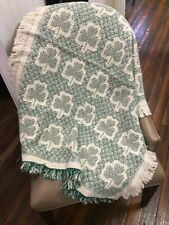 St. Patrick's Day Shamrocks Small Lap Baby Throw Cotton Woven Travel Blanket NEW