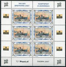Österreich 2669 postfrisch KB Kleinbogen Tag der Briefmarke 2007 Schiff MNH