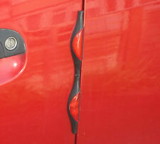 ONE PAIR (2 STRIPS) RED CAR DOOR PROTECTORS REFLECTORS PREVENT CHIPS DENTS BUMPS