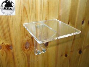 Wall Clear Acrylic Plexi-glass Square Shelf Holder Stand Mount Acrylic Bracket