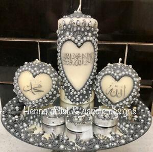 Personalised Islamic Henna Mehndi Candle Set