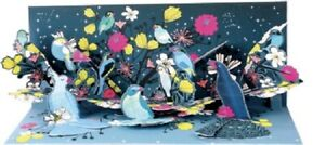 Midnight Birds  -  LIGHT UP -  3D Pop-up Card by Up With Paper
