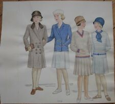 Original Art/Hand-Painted Fashion/Clothing Painting: 1929 - 13