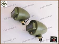 A PAIR OF NEW FORD JEEP MILITARY WILLYS BLACKOUT CAT EYE MARKER LIGHT (12V)