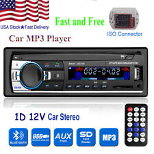 1 DIN Car Stereo Radio Bluetooth MP3 Player Head Unit FM SD/USB/AUX Remote 12V
