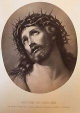 c1870 JESUS CROWN OF THORNS Albumen Photo ECCE HOMO GUIDO REMI Renaissance Art