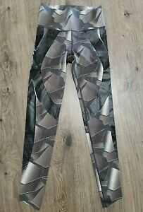Under armour Womens Running Tights XS Compression Perpetual Power Print Gray New
