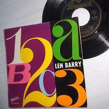 LEN BARRY northern soul  FRANCE 4-song PS 45 ep 1-2-3 Bullseye Lip Sync     F765