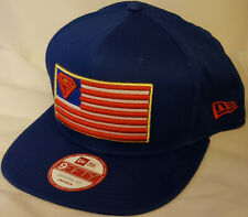 NWT NEW ERA DC COMICS SUPERMAN flag blue pop 9FIFTY SNAPBACK adjustable cap hat