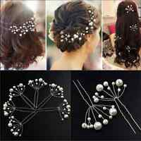 New  Jewelry Fashion Women Ladies Bridal Wedding Pearls Headband Hair Clip Comb