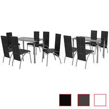 Ensemble à dîner Blanc/Marron/Noir Table et chaises de salle à manger cuisine