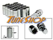 20 TUNER WHEEL LOCK LUG NUTS 8 POINT KEY 12X1.5 12 1.5 ACORN OPEN END CHROME M