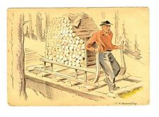 CPA 88 Vosges Fantaisie Le Schlitteur Illustration Bonnefoy fantasy postcard