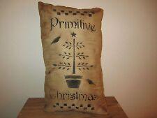 Primitive Stenciled Pillow - Primitive Christmas