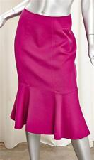 CAROLINA HERRERA Womens Fuchsia Magenta Knee-Length Trumpet Pencil Skirt S