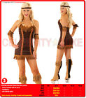 New Ladies Pocahontas Native American Indian Wild West Fancy Dress Party Costume