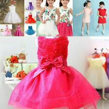 Flower Baby Girl Princess Bow Dress Wedding Party Dress Pageant Tulle Tutu Dress