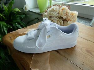 Puma Sneaker, Gr. 41, Weiß/Lack, NEU