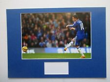 CHELSEA - BELGIUM EDEN HAZARD GENUINE HAND SIGNED A3 MOUNTED PHOTO DISPLAY - COA