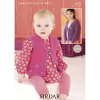 Sirdar Childrens Crochet Pattern - 4473 - Cardigans - Snuggly 4 Ply