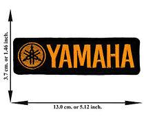 Black + Yellow Yamaha Biker Rider Motorcycle Racing Logo Applique Iron on Patch